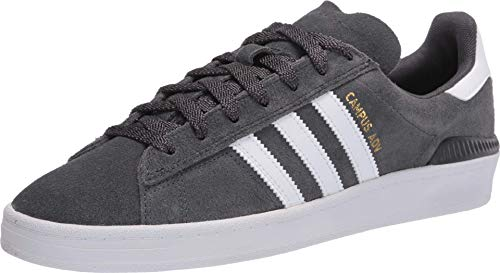 adidas Skateboarding Campus ADV Grey Six/Footwear White/Gold Metallic Men's 7.5, Women's 8.5 Medium