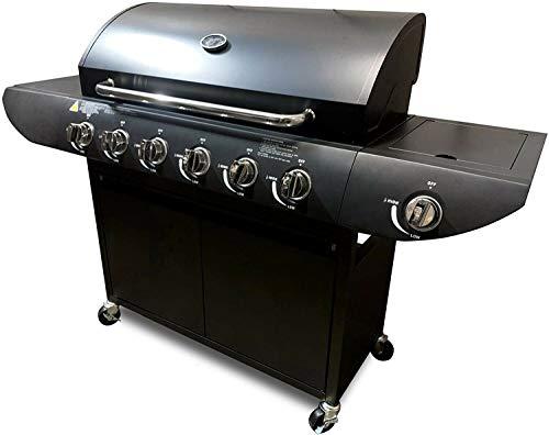 Campfire Barbecue 6+1 Pro Gas Grill BBQ Black