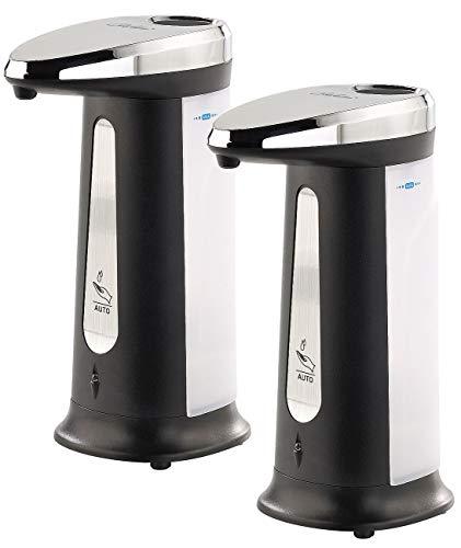 Carlo Milano Seifenspender Infrarot: 2er-Set Automatische Seifenspender mit IR-Sensor, 400 ml (Elektronischer Seifenspender)