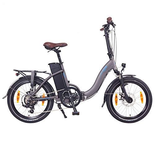 """NCM Paris Bicicleta eléctrica Plegable, 250W, Batteria 36V 15Ah • 540Wh, 20"""" (Gris)"""