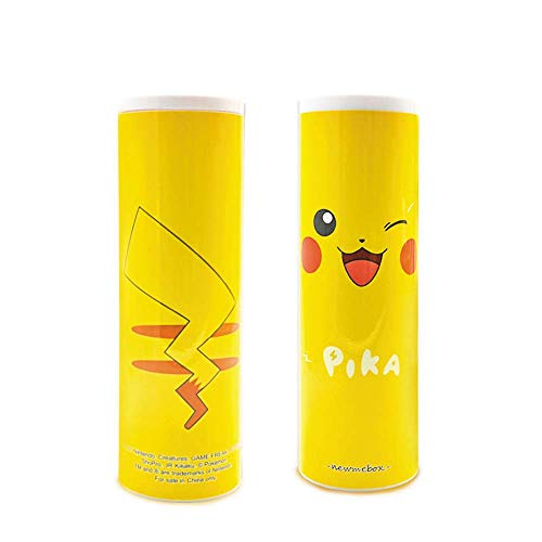 Pencil Case Cute, Wusheng Creative Multi-Function Large-Capacity Pen Box for Boys and Girls Little Fresh Cartoon Strawberry Simple Primary Junior High Students Stationery (Pikachu)