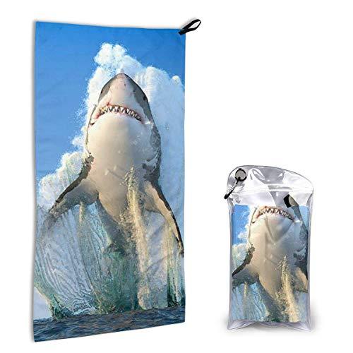 Bathroom Towels Shower Towels Toalla de secado rápido, tiburón 3D Beach Towels 140 X 70