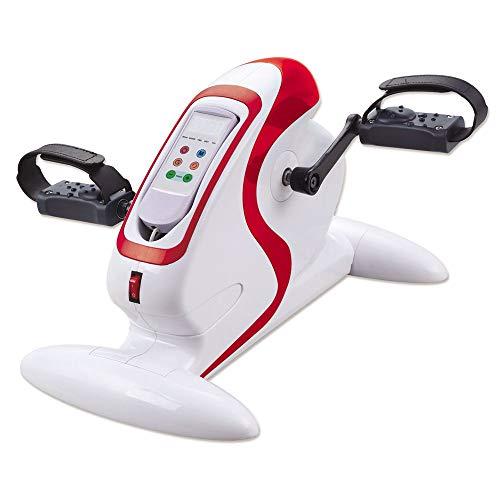 Novohogar Mini Bicicleta Estática de Pedales. Pantalla LCD. 12km/h. Pedaleador Portátil para Entrenamiento de los Músculos de la Zona Inferior (Piernas) y Superior (Brazos y Hombros) Sin Salir de Casa