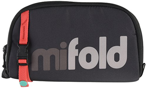 mifold Bolsa de transporte de designer (apenas para uso com mifold original), cinza ardósia – Capa de assento acolchoado para elevação de assento de carro para mifold original, alça ajustável com clipe para facilitar o uso