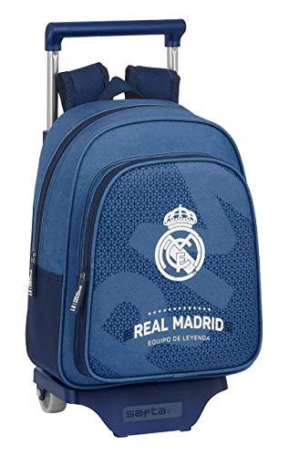 safta 612124020 Mochila pequeña ruedas, carro, trolley Real Madrid CF