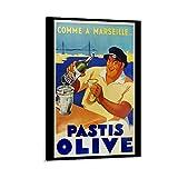 GUKEY Pastis Olive Vintage Art Artwork Paisaje Póster decorativo lienzo pared arte sala de estar carteles dormitorio pintura 60 x 90 cm