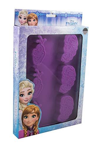 POS 28248 - Silikon Backform, 6er, Disney Frozen Elsa und Olaf, circa 28 x 20 cm, 100Prozent lebensmittelechtes Platin-Silikon, hitze- und kältebeständig von 230° bis -60°C, Spülmaschinengeeignet