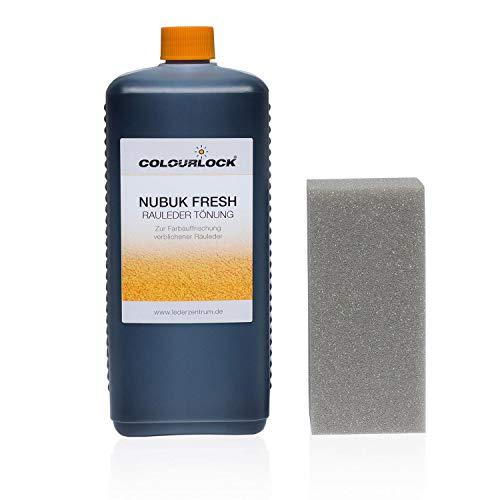 Preisvergleich Produktbild Colourlock Nubuk Fresh (Rauledertönung) 1000 ml Farbe F034 schwarz,  gegen Ausbleichungen bei Rauleder
