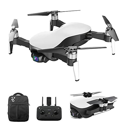 Drone RC Senza spazzole con Fotocamera Gimbal stabilizzato a 3 Assi 12MP 4K HD Photo Quadcopter, Follower Intelligente, Volo a Punto Fisso, Zoom dell'obiettivo, Sistema di riposizionamento 4, per ADU