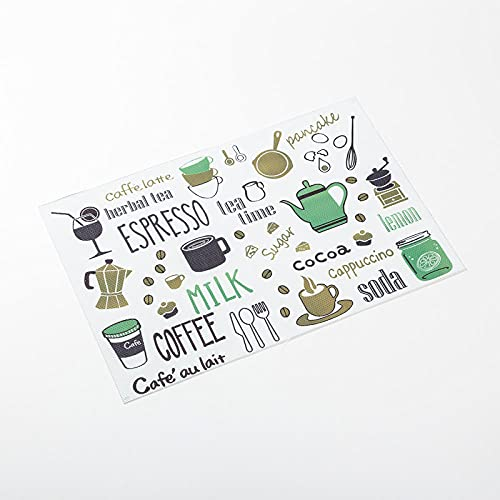 DGSGBAS Mantel Individual Rectángulo PVC Antideslizantes,Pausa Informal para El Café Salvamanteles Individuales Lavables Antiincrustante Comedor Manteles Individuales Juego de 2