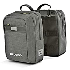 Includes several smaller pockets within Capacity of 40 L Made specially for Pedego Commuter Bike Made from 600D Polyester and utilizing welded zippers