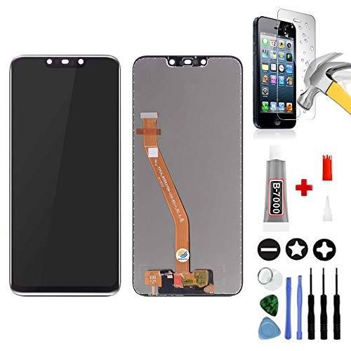 Mobilevie Vetro Touch + LCD Originale Prestito-A-Mount Huawei Mate 20 Lite Nero +