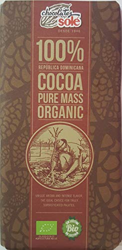 CHOCOLATE NEGRO 100% CACAO ECOLOGICO CHOCOLATES SOLE