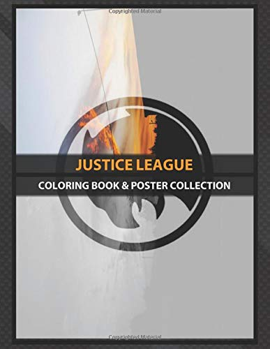 Coloring Book & Poster Collection: Justice League Hawkman Logo Overlayed On An Image Of A Fiery Sky Comics