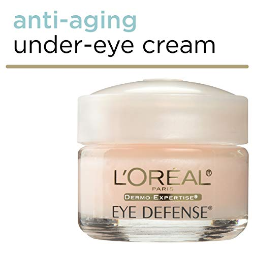 41svc3+nxdL - L'Oreal Paris Skincare Dermo-Expertise Eye Defense Eye Cream with Caffeine and Hyaluronic Acid For All Skin Types 0.5 oz.