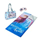 Idea Nuova Disney Frozen 2 Sleepover Purse with Sleeping Bag and Bonus Eyemask, 46'x26'