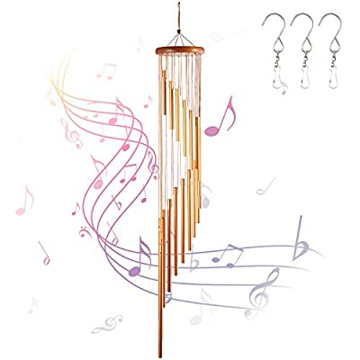INONE Wind Chimes with 18 Aluminum Alloy Tubes ...