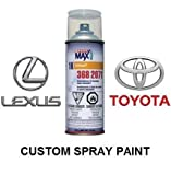 Finish-Rite Custom Spray Paint for Toyota and Lexus Cars - OEM Paints (Spray Paint, 1E7 - Silver Streak MICA)