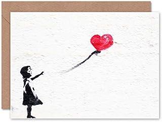 Fine Art Prints Banksy ballonggratulationskort med kuvert inuti, premiumkvalitet