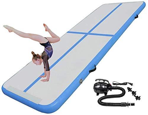 Luckywing Tappetino Ginnastica Gonfiabile, Air Track Ginnastica, con Pompa ad Aria, per Fitness, Ginnastica, Yoga, Allenamento, Sport, 300x90x10cm