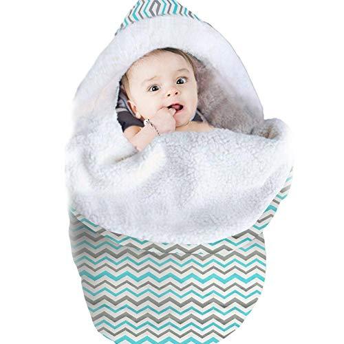 Blue-Yan Überwurf für Neugeborene, Schlafsack, Baumwolle, sehr weich A