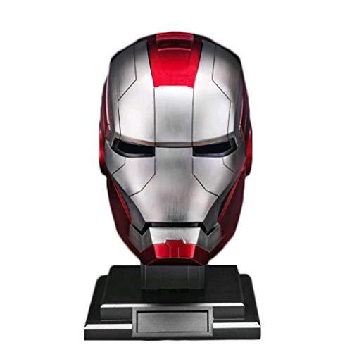 Iron Man Helm 1: 1MK5 Helmmaske Vollgesichtsmaske Elektro Tragen Helme Rächer-Film-Rollen Halloween-Kostüme Metallic-OneSize