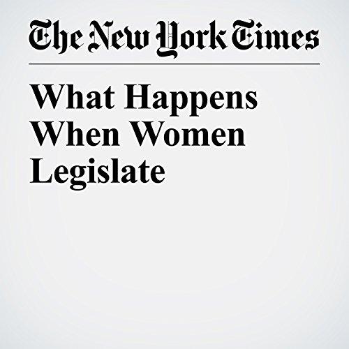 What Happens When Women Legislate copertina