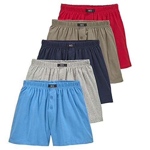H.I.S weite Herren Boxershorts, Shorts, klassischer Schnitt, 5er Pack (10, Bunt_2)