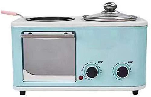 Mini horno eléctrico Rotisserie, equipado con olla de cocina de 1 litro de 5 litros Capacidad horno de 5 litros 60 minutos Tiempo de tiempo cuatro funciones, horno pequeño para el hogar, 220V azul