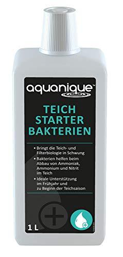 Aquanique activador de bacterias 1 l, para estanques, Suficiente para hasta 30.000 l, Activa el Estanque después del Invierno, Filtro de Arranque para la Primavera