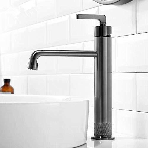 Lavabo grifo bañera monomando cepillo caliente y frío grifo de lavabo dorado grifo pistola de agua-gris,XNNZXKLRMCMC5