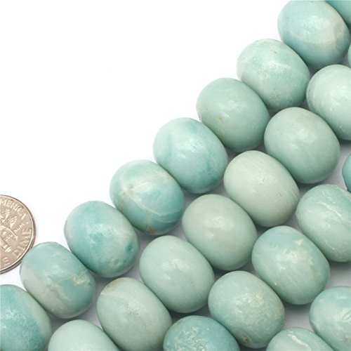 GEM-inside Natural 12x16mm Amazon Agate Beads Round Smooth Beads Loose Beads for Women Jewelry Making