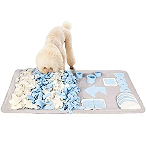 Stellaire Chern Snuffle Mat for Small Large Dogs Nosework Feeding Mat (23.6″ x 39.4″) Easy to Fill and Machine Washable Training Mats Pet Activity/Toy/Play Mat, Great for Stress Release – M