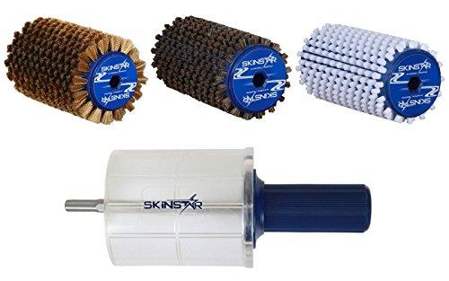 SkinStar Komplett Bürsten Set Rotorbürste WorldCup Professional 5-teilig 120mm