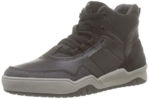 Geox J Perth Boy B ABX A, Sneaker a Collo Alto, Nero (Black C9997), 37 EU