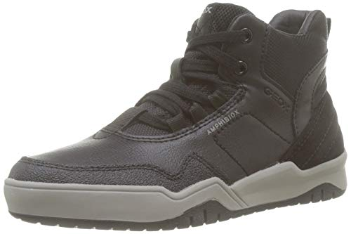Geox Jungen J Perth Boy B ABX A Hohe Sneaker, Schwarz (Black C9997), 29 EU