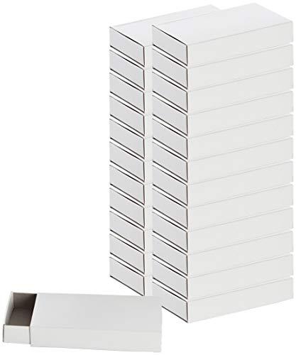 folia 2407 - Streichholzschachteln, ca. 11 x 6,5 x 2 cm groß, blanko weiß, zum Selbstgestalten (2)
