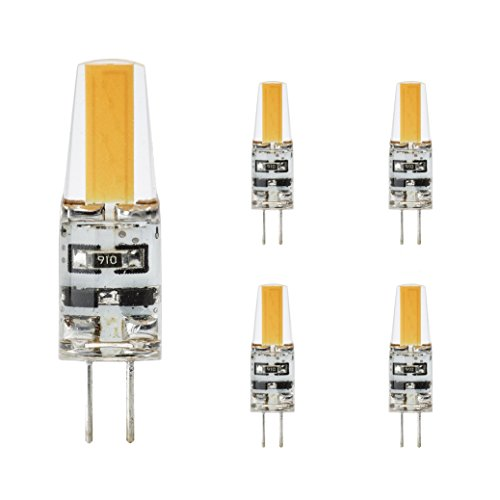 g4 led 230V Stiftsockellampe warmweiß, 5er Pack, 2W Ersetzt 20W leuchtmittel,180lm,3000K,COB,LED Lampen,Stiftlampe. >Bitte Beachten< 230V Leuchtmittel nicht geeignet für 12V Trafo Lampen