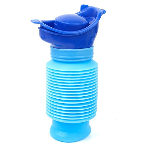 Niaohu-A Urinoir d'urgence rétractable - Mini toilette portable pour le camping, l'extérieur et les voyages - Pour enfants et adultes - 750 mL