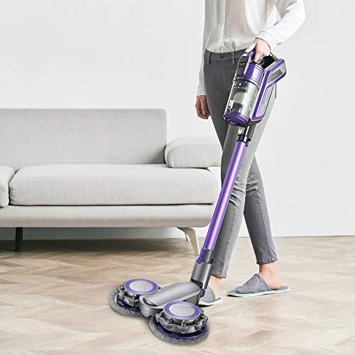 Kacsoo Eléctrico Cabezal Fregona Compatible con Dyso-N Accesorio Eléctrico Mopping Cepillo Aspiradora Paño de Limpieza sin Cables Adhesivo Aspiradora Sustituible Partes(V6)