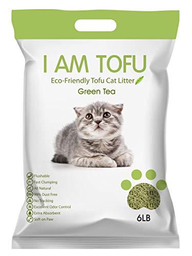 K KAMY'S ZOO I AM TOFU - Tofu Cat Litter, Natural Flushable Extra Clumping Pellet Litter, 6lb (Original) (Misc.)