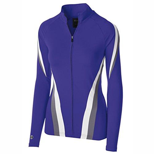 Holloway Dry Excel Ladies Aerial Semi Fitted Jacket (Medium, Purple/Graphite/White)