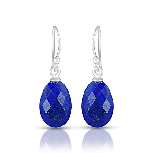 Lapis Earrings, Dark Blue Drop Earrings, Lapis Lazuli Earrings, Dangle & Drop Earrings, Christmas Gifts, Womens Earrings