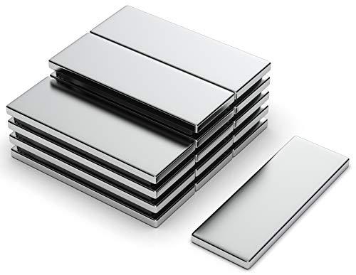 NeoMagNova 15 Stück Neodym Magnet rechteckig 30x10x2 mm, Magnetstärke N42, Magnete stark, klein und edel, Magnete für Magnettafel, Kühlschrank, Halterung diverser Gegenstände