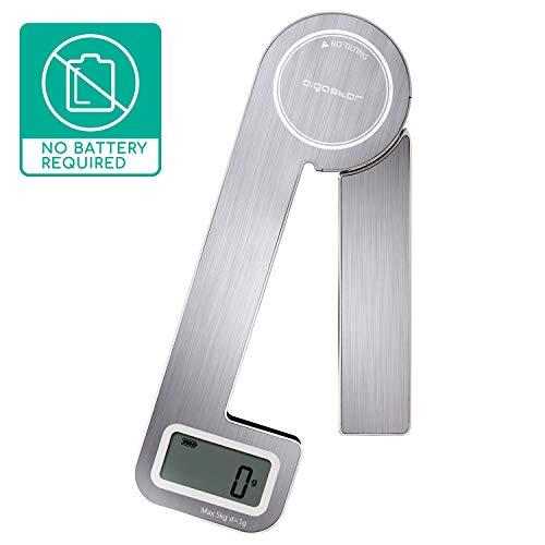 Aigostar Nano - Klappbare Küchenwaage, Wandküchenwaage Design, Digitale Haushaltswaage mit LCD Display, Waage mit 5kg / 11lb, Silber (Nano)