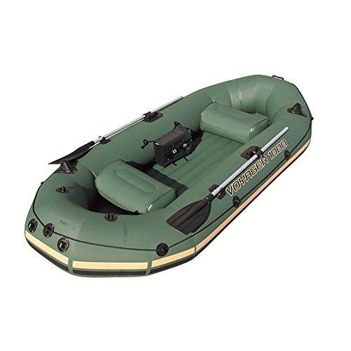 Ljf 3 Leute-Armee-Grün verdickte Fischerboot-Schlauchboot-Boot-Luftkissenfahrzeug 2,91 × 1,27m