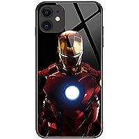 Luxus Marvel Avengers gehärtetes Glas Handyhülle TPU Stoßstange + Rückglas Modisches einzigartiges Design, Musikrhythmus wird den Flash-Effekt verändern Wenn eine Nachricht auftaucht / Musik abgespielt wird, leuchtet der Fall auf, sehr cool