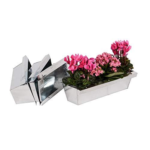 Nature by Kolibri Blumenkasten mit Aufhängung Set Balkonkasten Einsatz passend für Europaletten für Blumen, Kräuter und Früchte 4 Stück 38cm