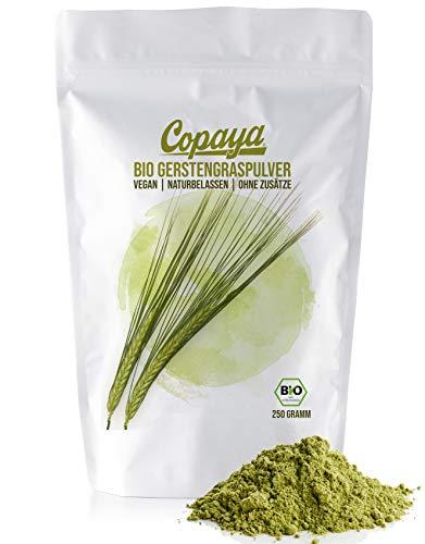 Copaya Bio Gerstengras Pulver aus kontrolliert biologischem Anbau (250g)