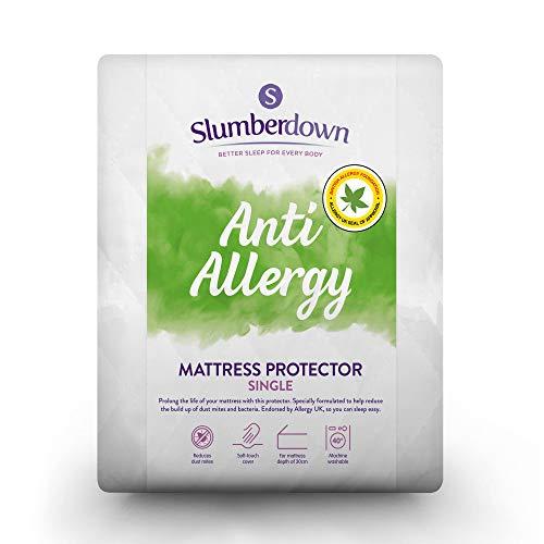 Slumberdown Anti Allergy Mattress Protector, White, Single